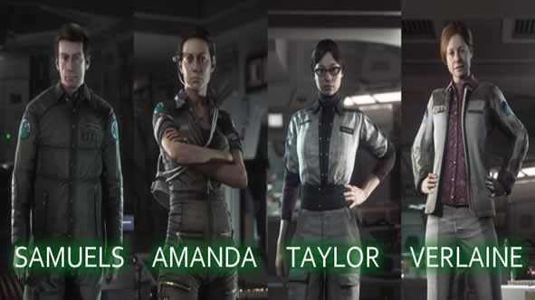 Os personagens de alien isolation