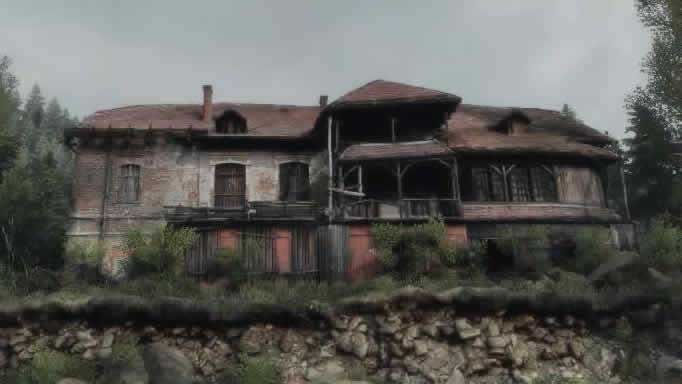 Casa com cômodos do portal de The Vanishing of Ethan Carter