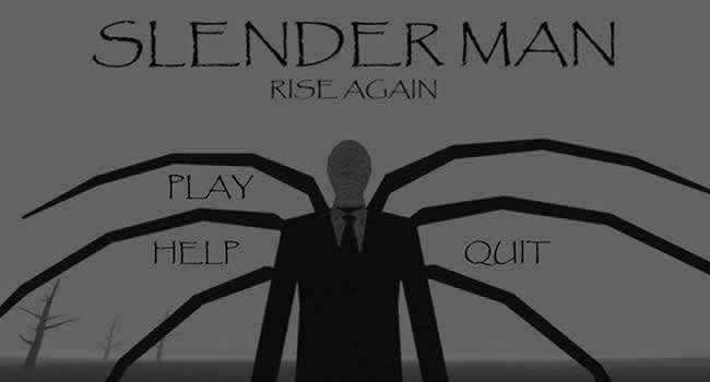 Menu do jogo android slenderman rise again