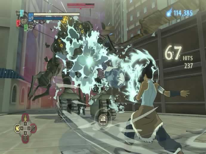 Os golpes do jogo The Legend of Korra