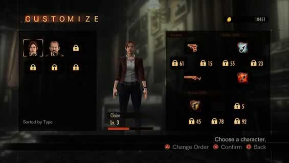 Personagens do Raid Mode de Resident Evil Revelations 2