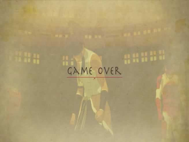Tela game over do jogo The Legend of Korra