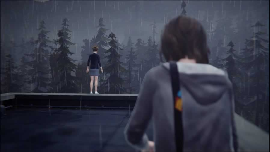 Kate sendo salva por Max em Life Is Strange