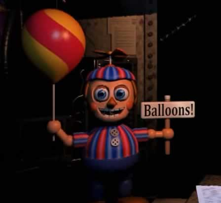 O temido Garoto do balao Balloon Boy de Five Nights at Freddys 2