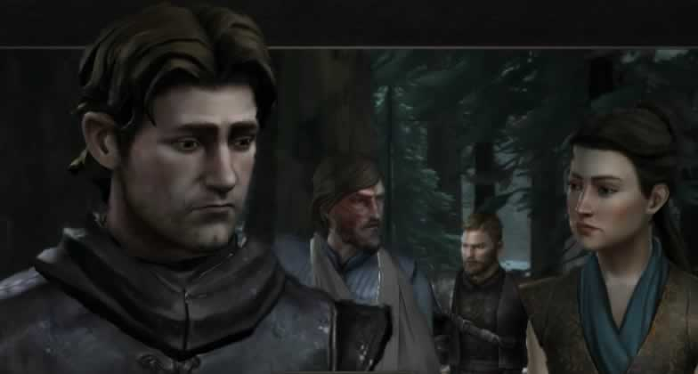 Os protagonistas de game of thrones da telltale
