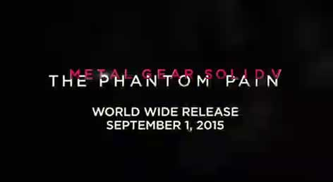 Parte do video onde saiu data de lançamento de Metal Gear Solid V The Phantom Pain