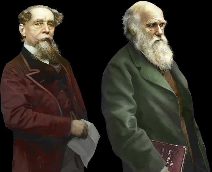 Charles Dickens e Charles Darwin de Assassin's Creed Syndicate