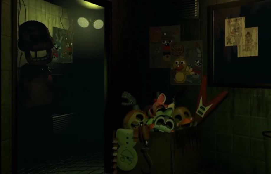 O cenário do escritório de Five Nights at Freddy's 3