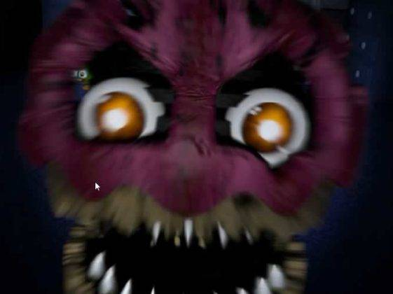 Cupcake atacando em Five Nights at Freddy�s 4