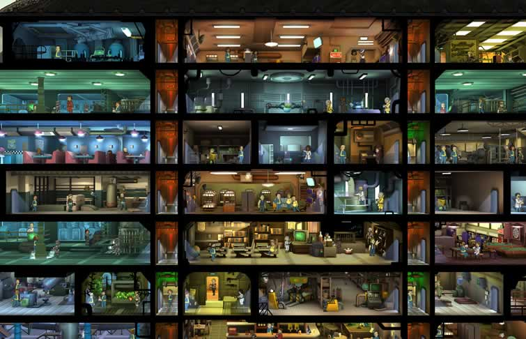 Fallout Shelter imagens subsolo