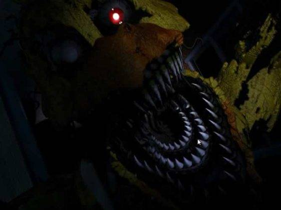 Nightmare Chica atacando em Five Nights at Freddy�s 4