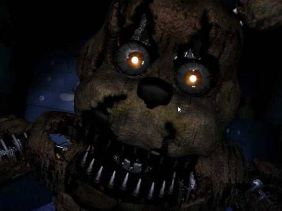 Nightmare Freddy atacando