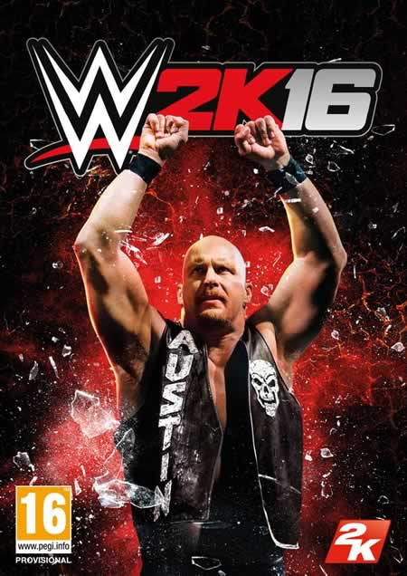 Stone Cold Steve Austin é capa do WWE 2K16