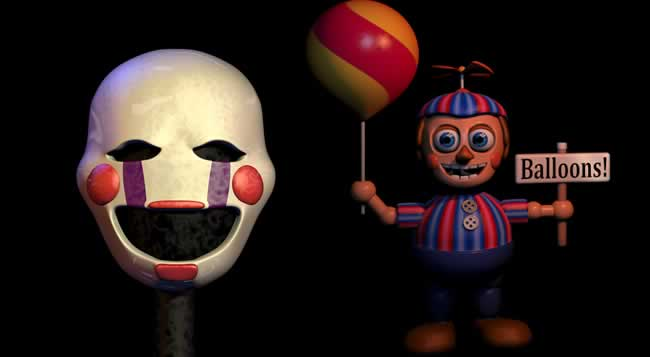 Ballon Boy e The Puppet de Five Nights at Freddy's 2