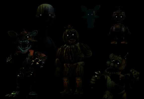Todos os Animatrônicos fantasmas de Five Nights At Freddy's