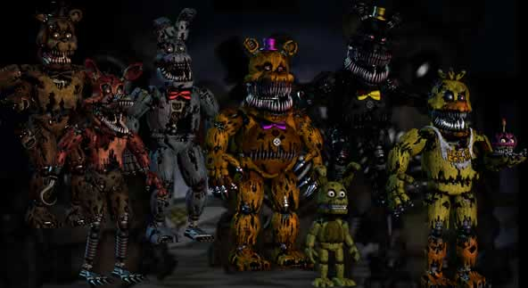 Todos os animatrônicos de Five Nights at Freddy's 4