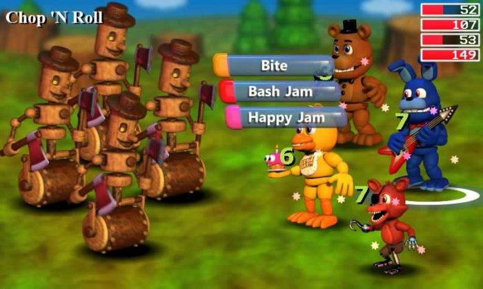 Chop n roll do fnaf world