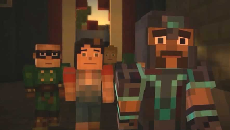 Gabriel reaparece no episódio 2 de minecraft story mode