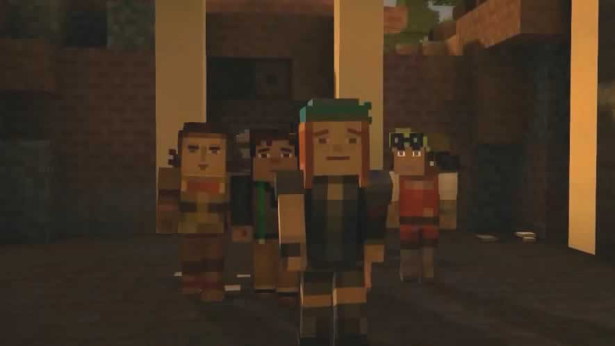 Petra reaparece no episódio 2 de minecraft story mode