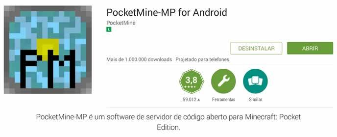 PocketMine para servidor online do minecraft pocket edition apk