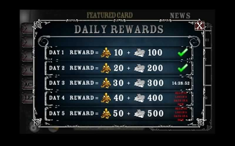 daily rewards penny dreadfull demimonde