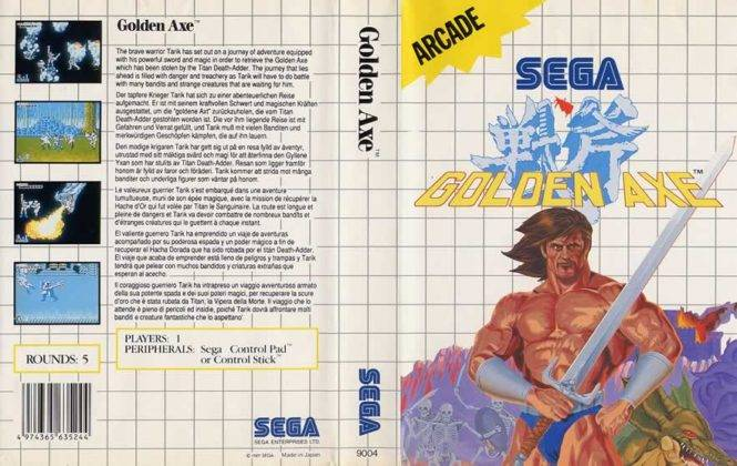Capa Golden Axe arcade