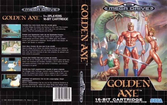 Capa do mega drive do Golden Axe
