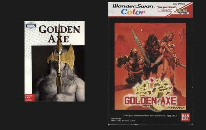 Capa golden axe Commodore 64 e wonder swan color