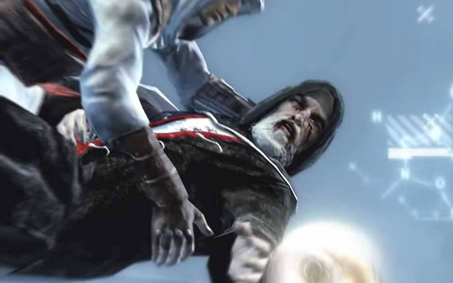 a morte de Al Mualim em Assassin's Creed