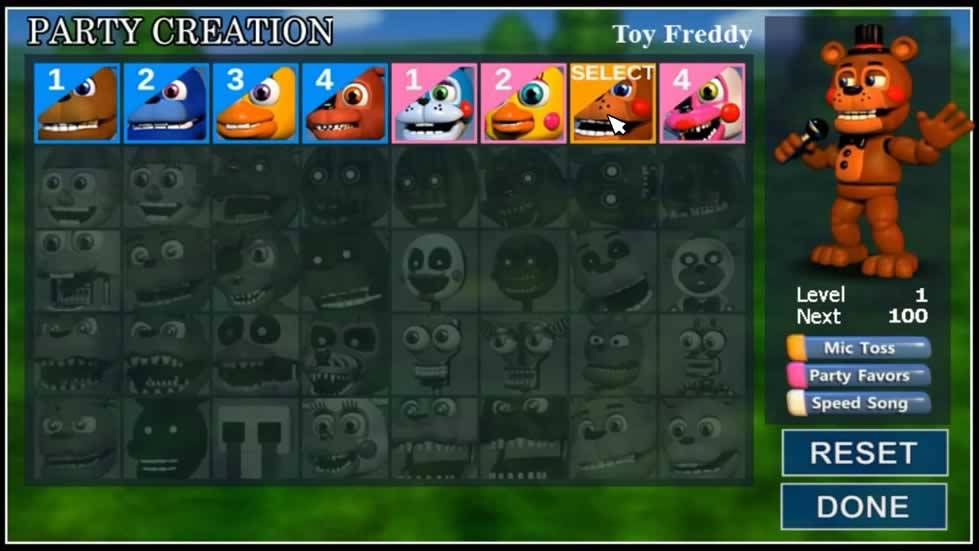 Party Creation do FNAF World