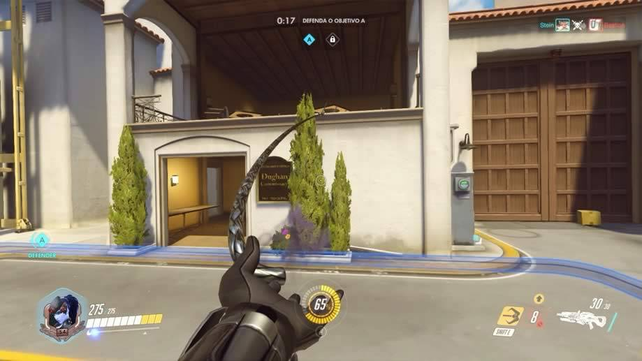 Widowmaker usando o arpeu