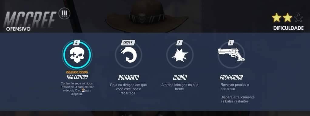 Habilidades do personagem McCree de Overwatch