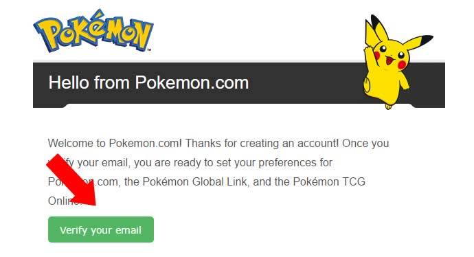 Verificar o email de registro do Pokémon Go