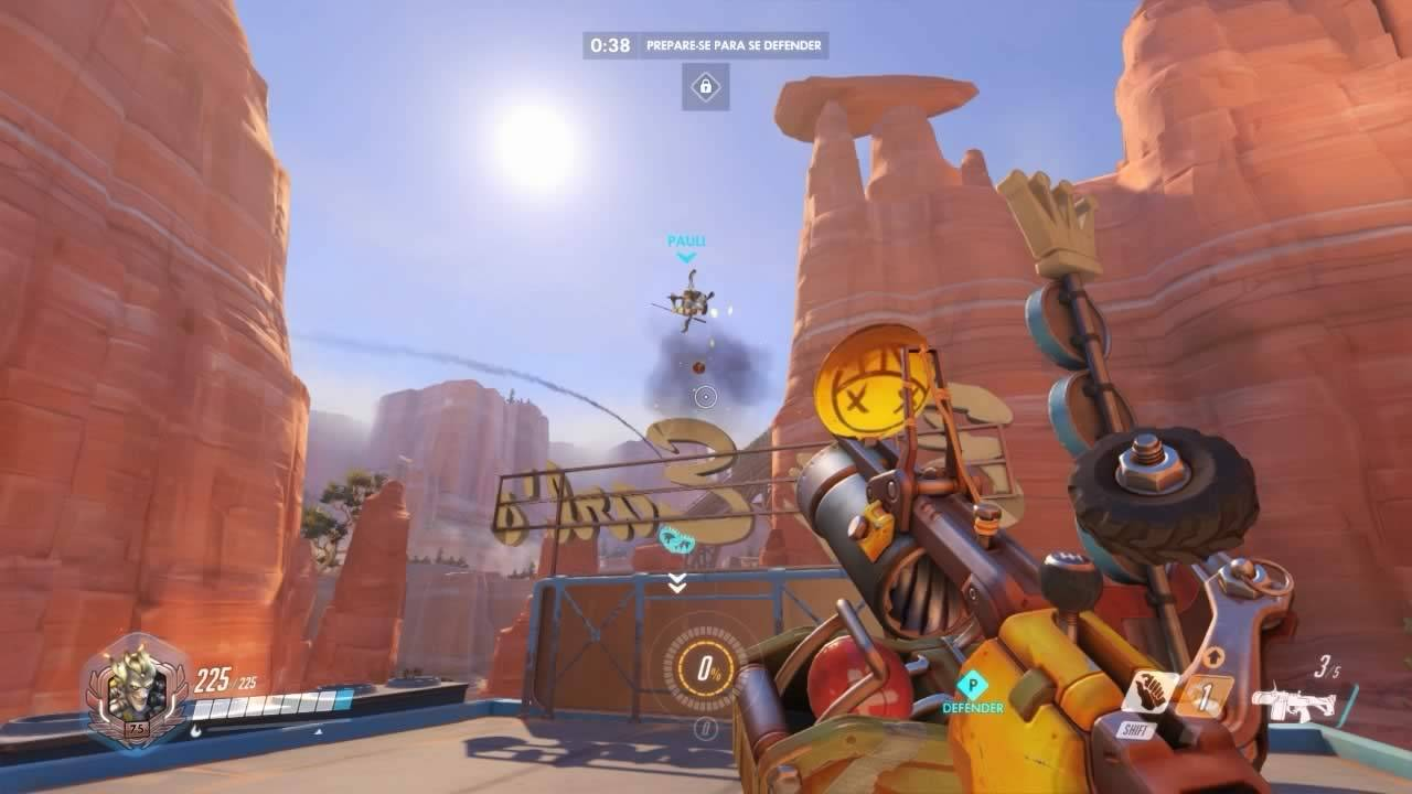 Ataque normal de Junkrat de Overwatch