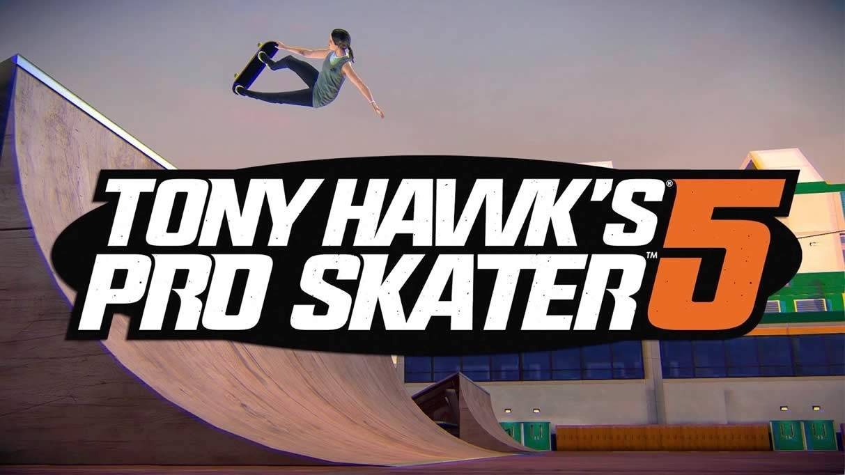 Logo do jogo Tony Hawk's 5