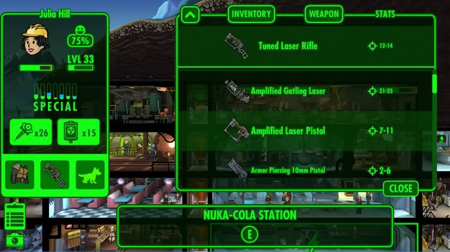 Armamentos de Fallout Shelter
