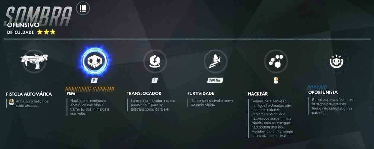 Todas as habilidades de Sombra de Overwatch