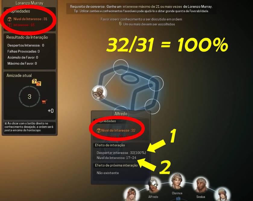 Calculo de nível de interesse em Black Desert Online