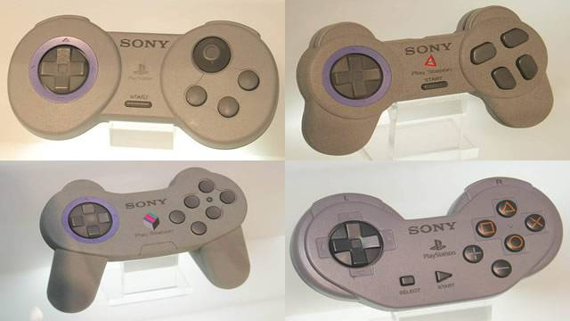 Protótipos de controles do PS1