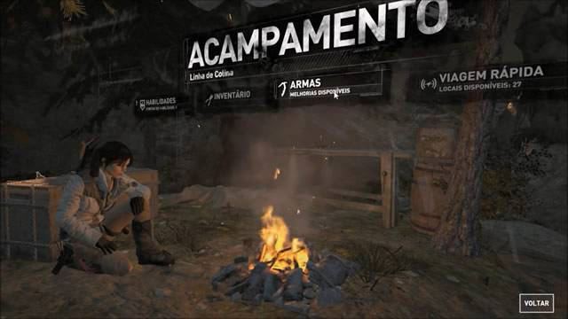 Acampamento de Rise of The Tomb Raider