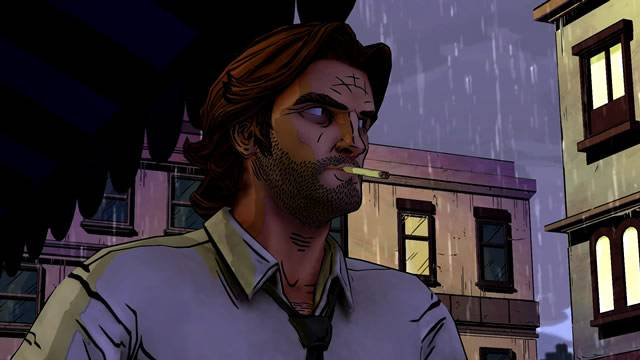 Bigby de The Wolf Among Us fumando