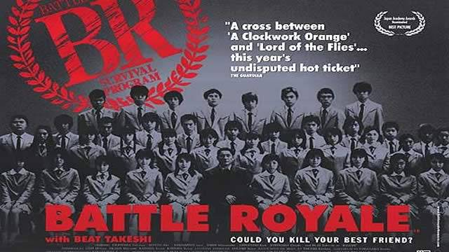 Poster do FIlme Japonês Battle Royale