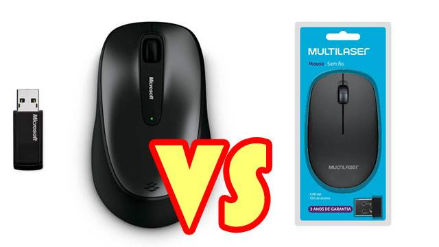 Comparativo mouse wireless microsoft 2000 e multilaser mo251