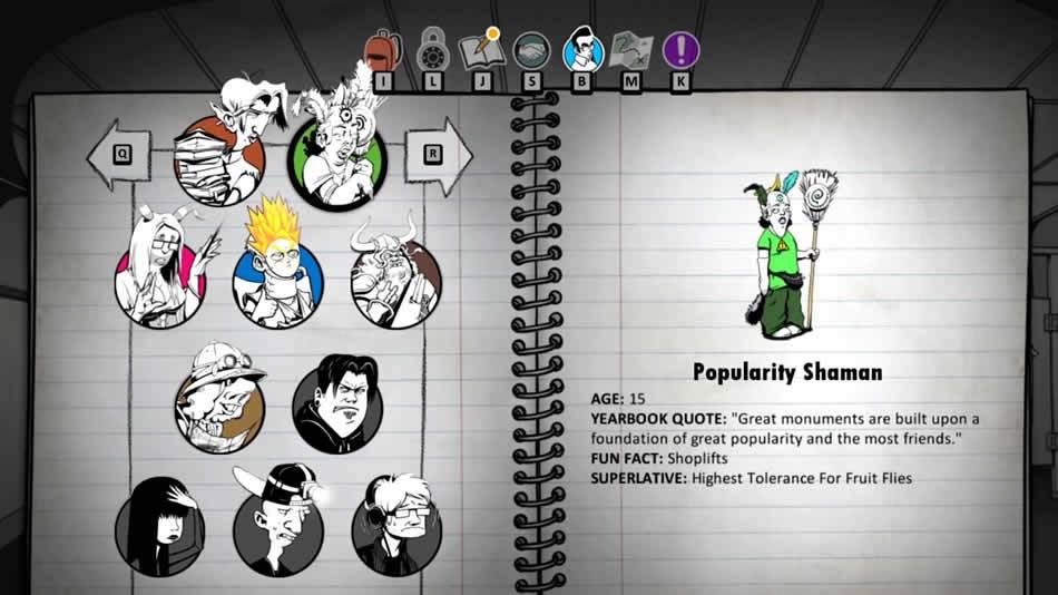 Personagens de Super Daryl Deluxe