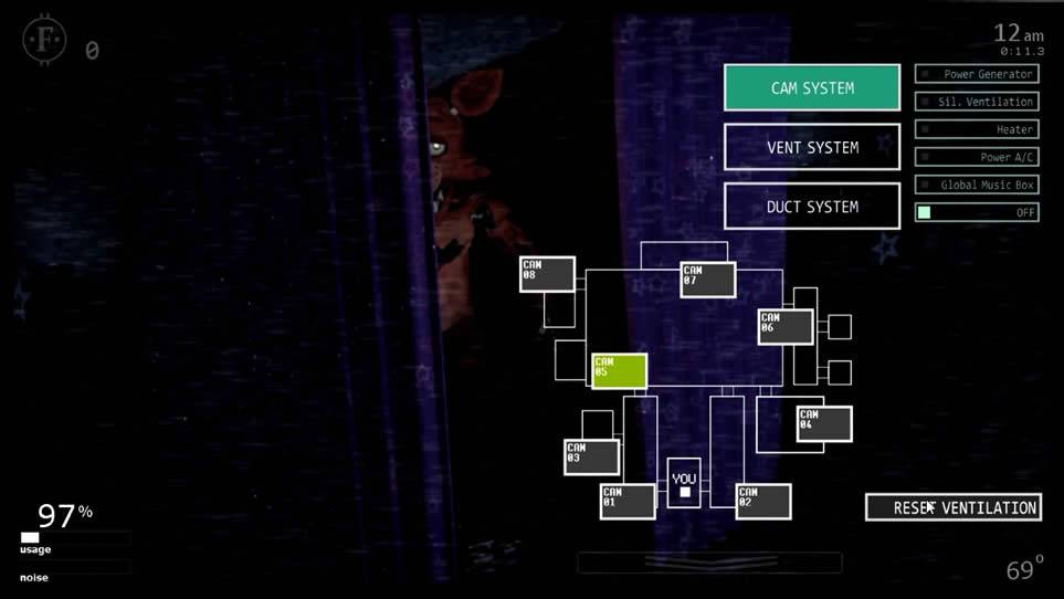 Primeiro estágio do Foxy em Ultimate Custom Night