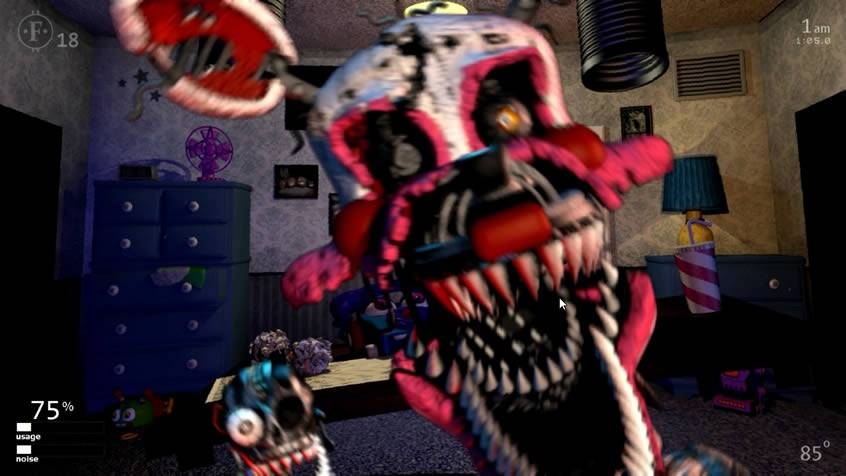Jumpscare da Nightmare Mangle em UCN