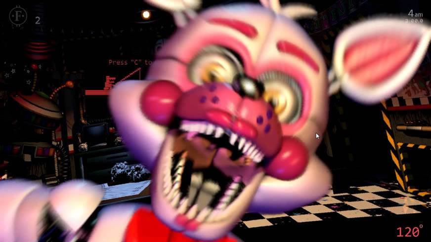 Jumpscare do Funtime Foxy em Pay Attention 1 UCN