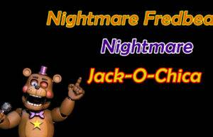 Ultimate Custom Night Dicas para Nightmare Fredbear, Nightmare e Jack-O-Chica