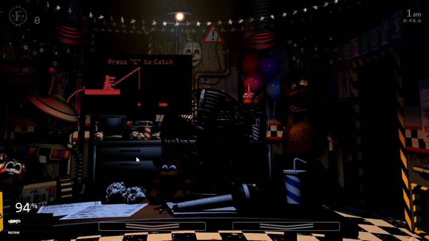 minigame do Old Man Consequences em UCN