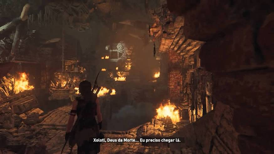 Tumba do Deus da Morte Xolotl Shadow of the Tomb Raider